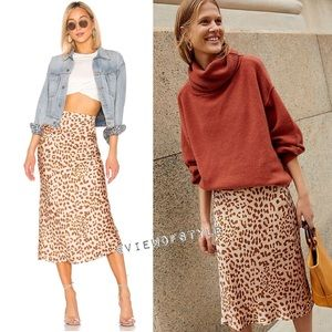 Free People Normani Silky Printed Skirt